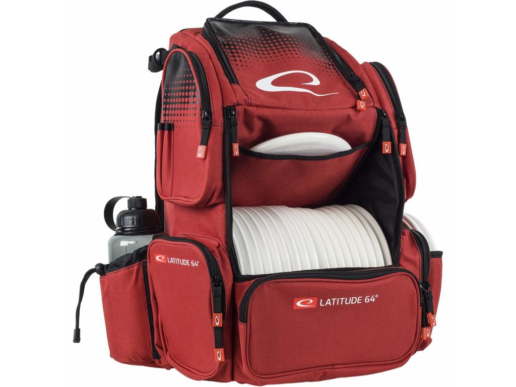 803 luxury backpack e4 cerveny