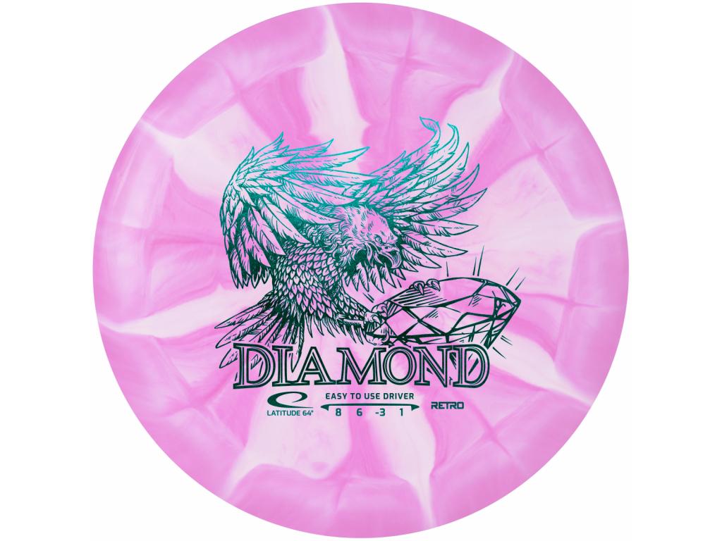 Retro Burst Diamond Pink White 2020
