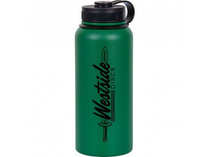 westside discs stainless steel water bottle green
