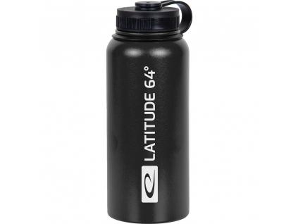 latitude 64 stainless steel water bottle black