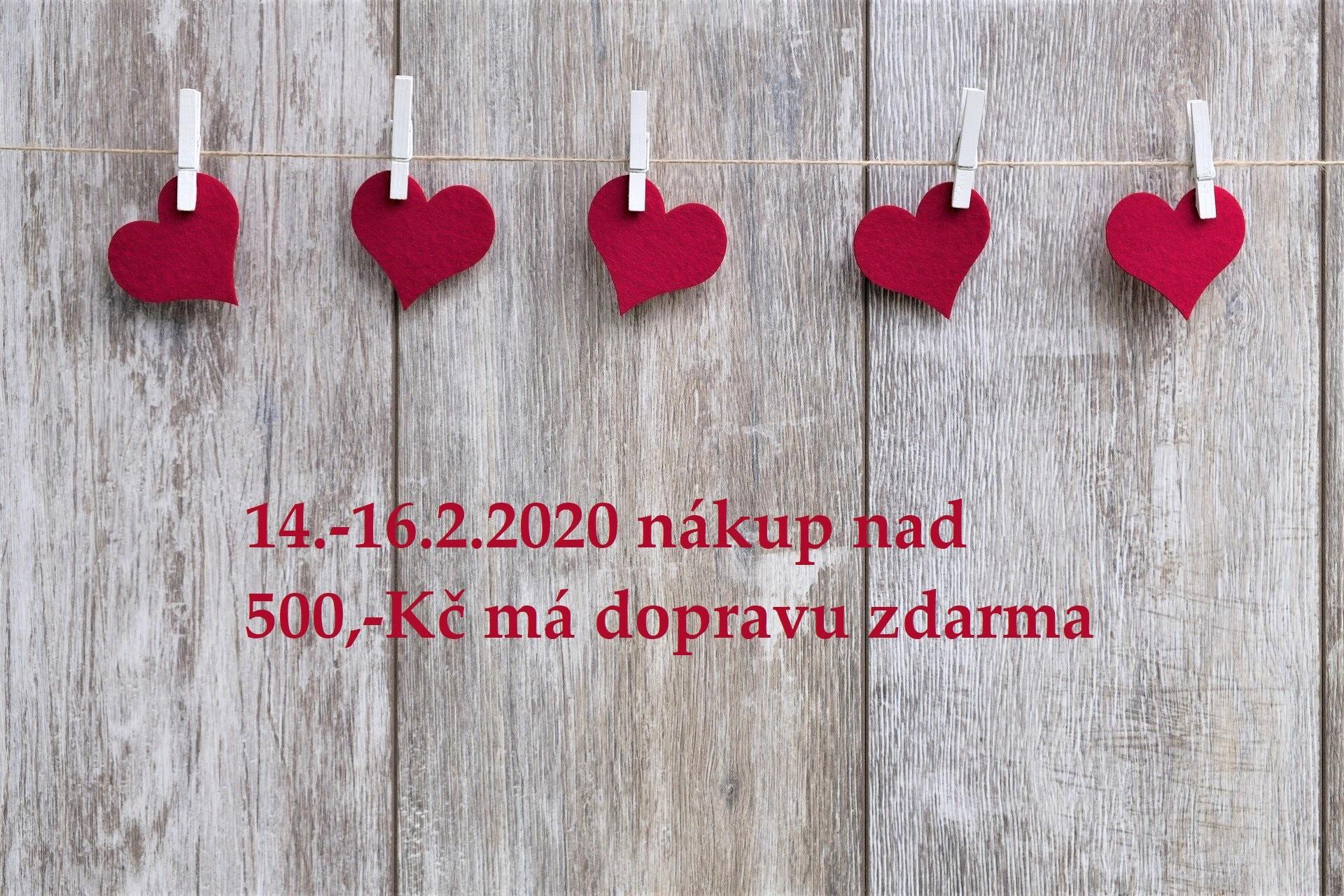 Valentýn s dopravou od 500,-Kč zdarma