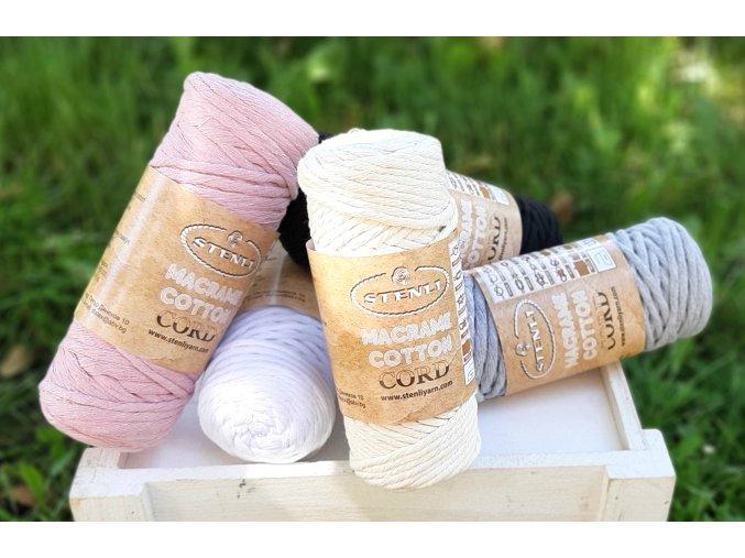 Macrame Cotton Cord - 50 m / 250 g