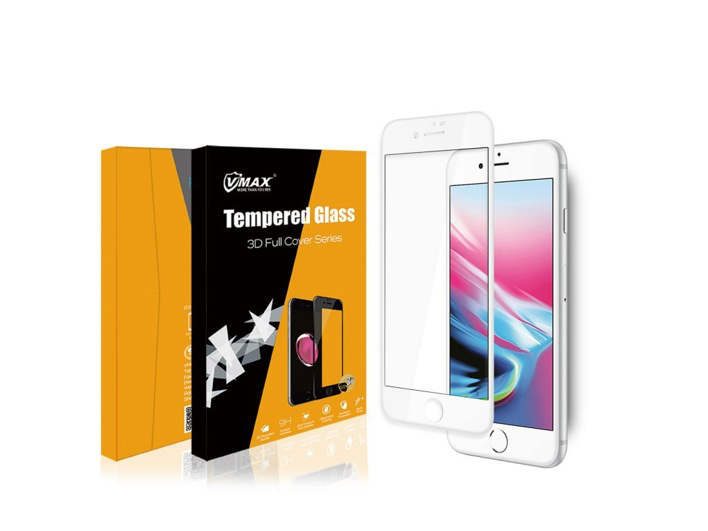 10514 5 3d extra ochranne sklo pro iphone 7 8 bile