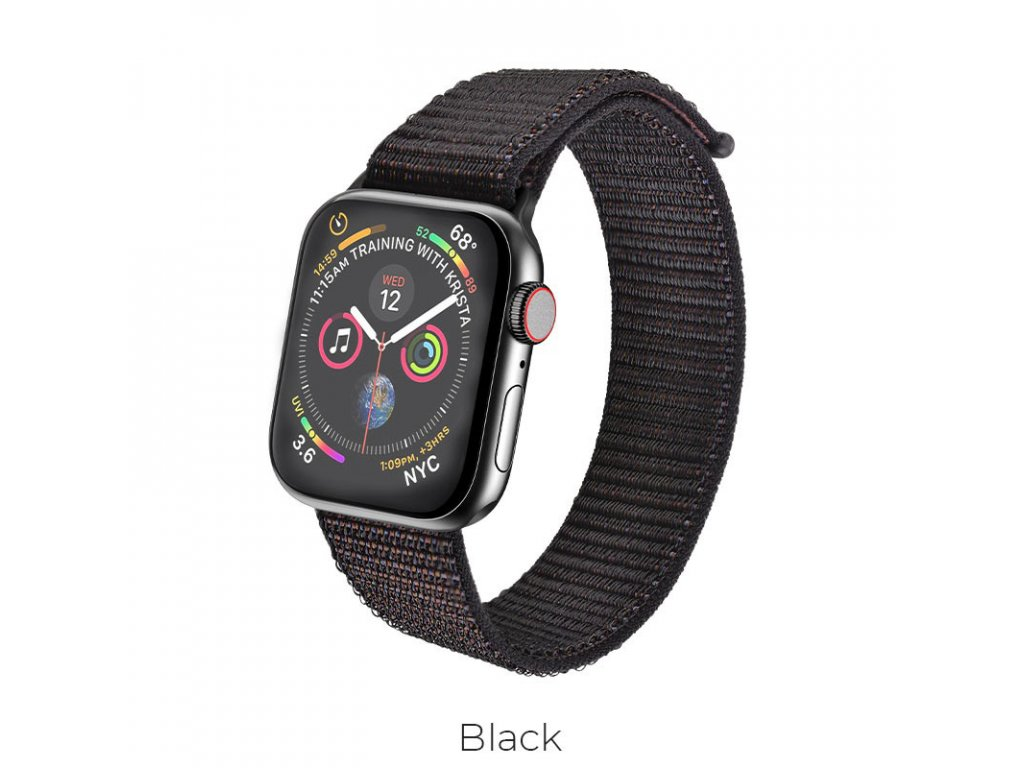 hoco wb06 tortuous nylon sports strap for apple watch black
