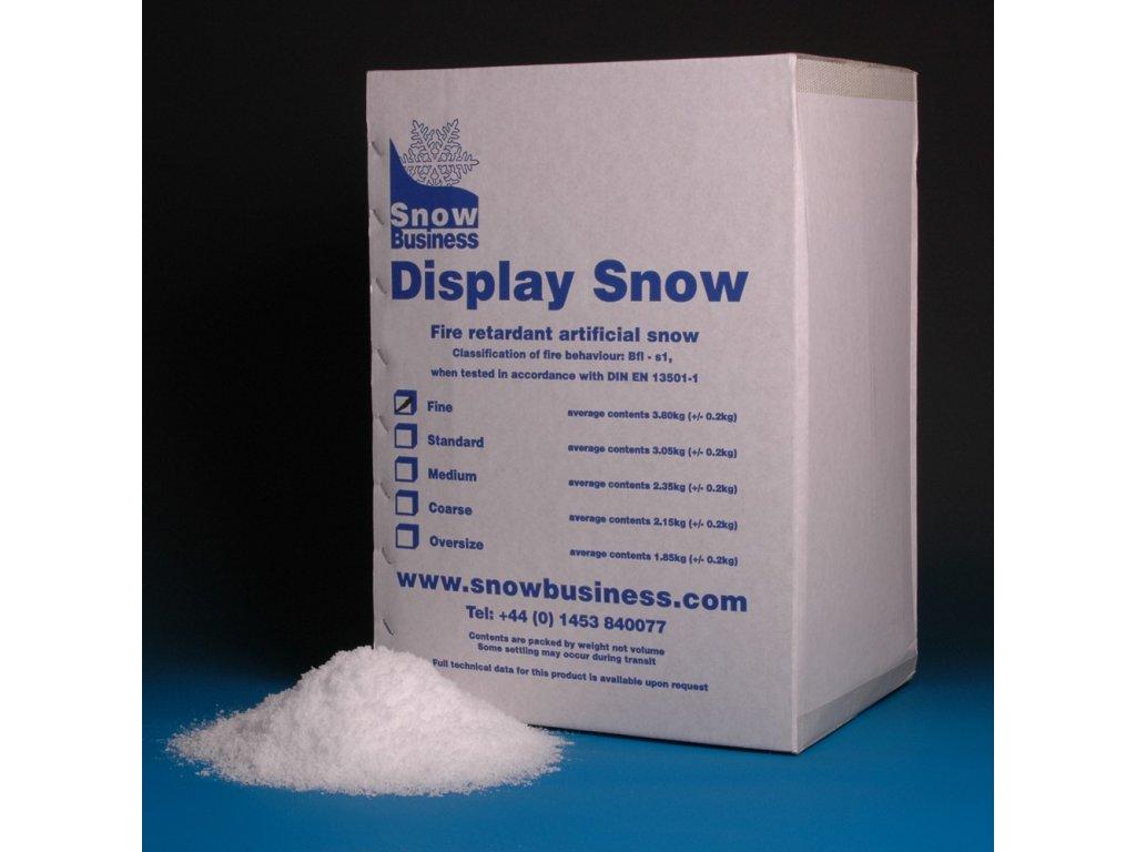 Dekorační sníh - Display jemný 3,8 kg
