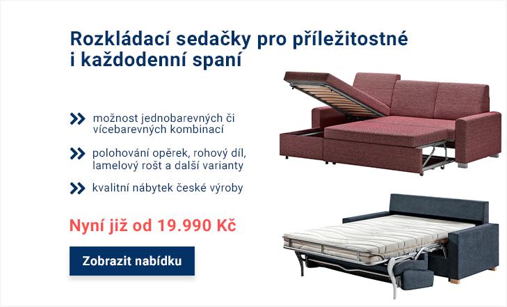 Rozkládací sedací soupravy na příležitostné i každodenní spaní