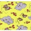 Povlečení dětské krep malá postýlka Slůně žluté, Výběr zapínání: nitěný knoflík