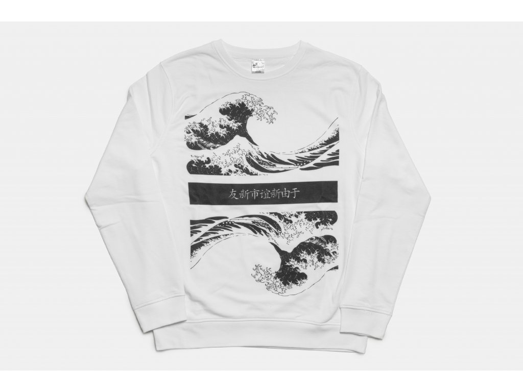 Oversized waves crewneck