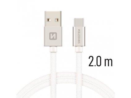 3815 kabel usb usb c 3 1 swissten textilni 2m