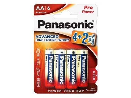 3842 baterie panasonic lr06ppg 6bp blistr 6 ks