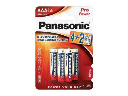 3845 baterie panasonic lr03ppg 6bp blistr 6 ks