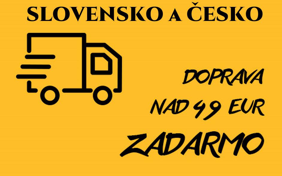 DOPRAVA ZDARMA NAD 49 EUR