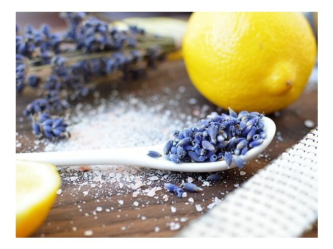 Supplies for Making Lemon Lavender Salt Soak