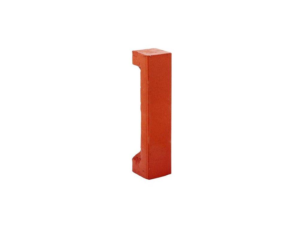 Okrasná cihlička rohová 22x5x5cm - červená