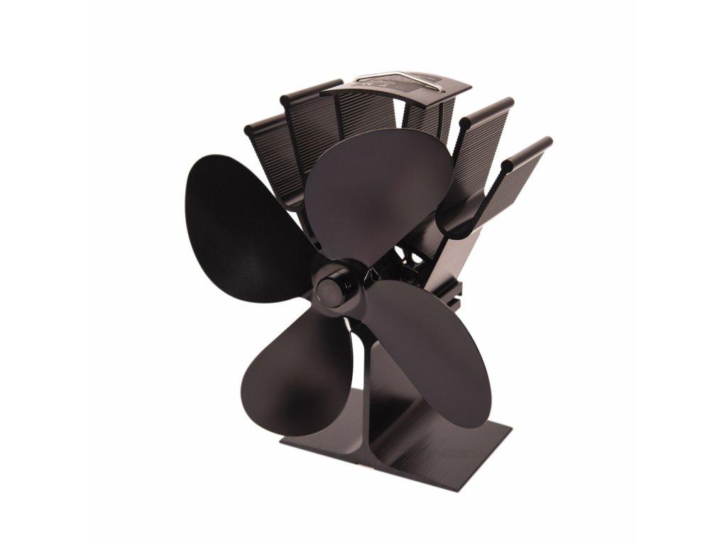 Ventilátor na kamna FLAMINGO čtyřlopatkový, černý