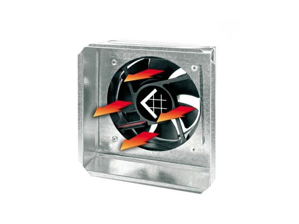 Redukce do mřížky 17x17 s ventilátorem a senzorem - 125 mm