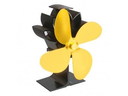 Krbový ventilátor čtyřlopatkový - zlatý