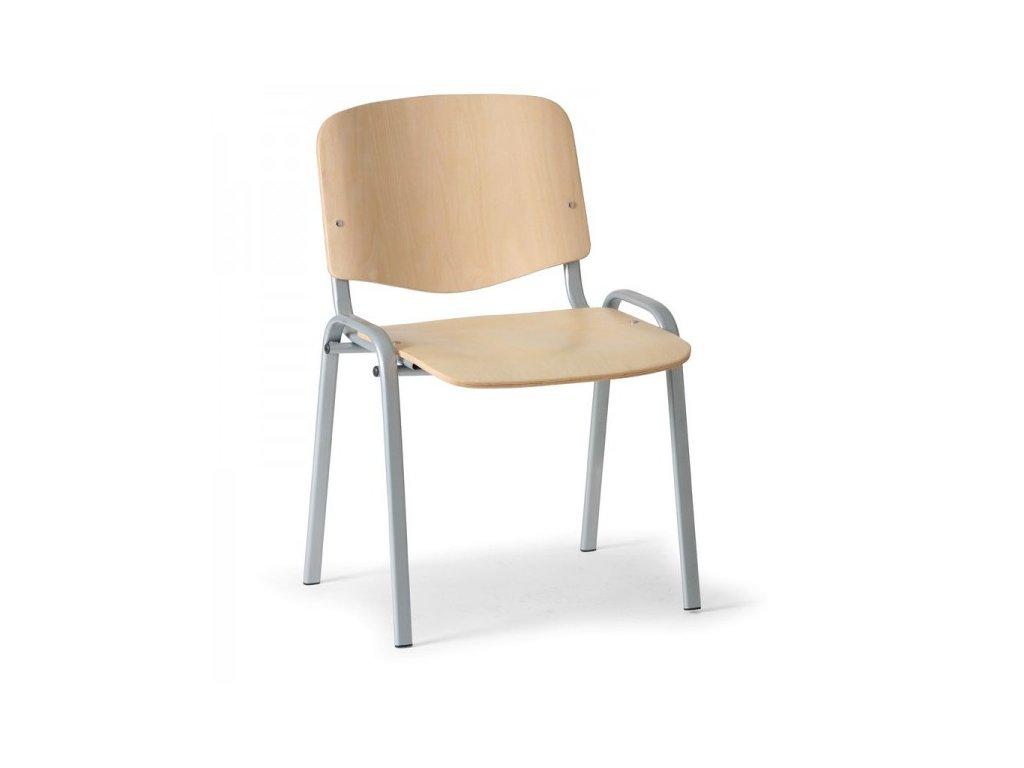 Dřevěná židle ISO - šedé nohy / Buk