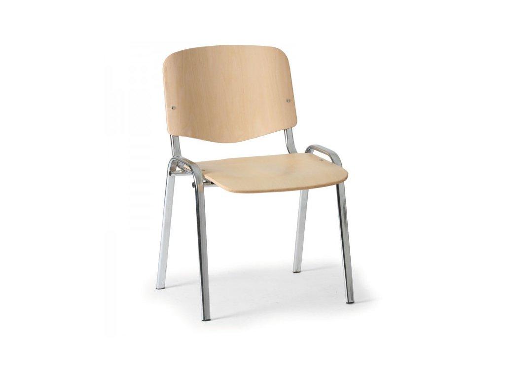 Dřevěná židle ISO - chromované nohy / Buk