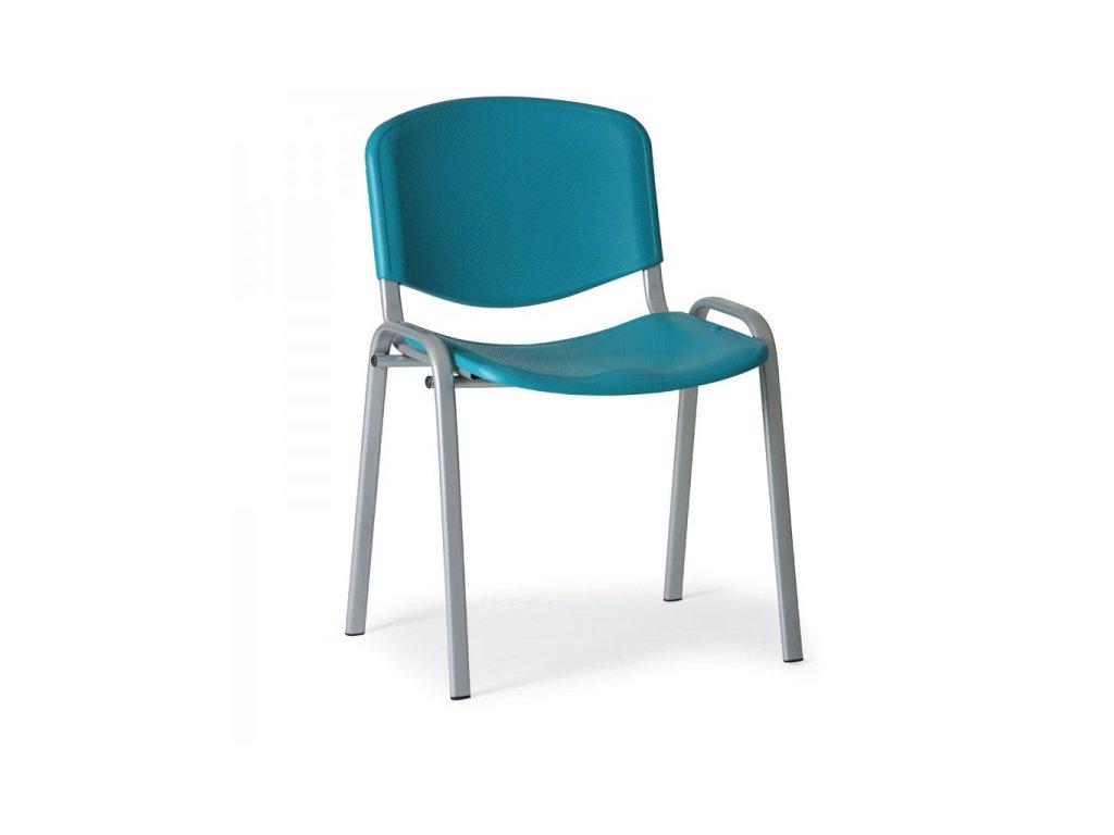 Plastová židle ISO - šedé nohy