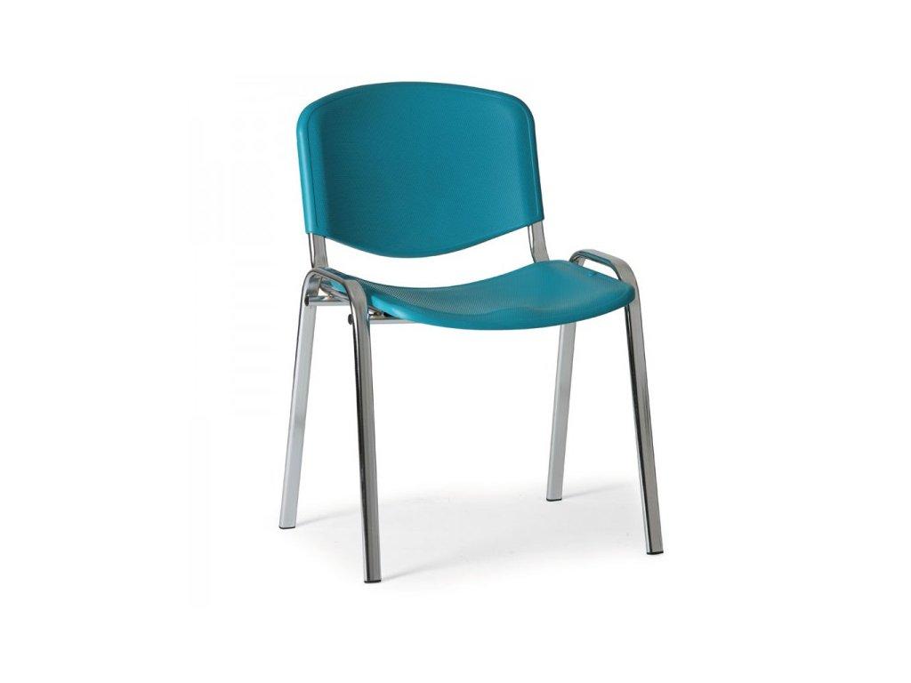 Plastová židle ISO - chromované nohy