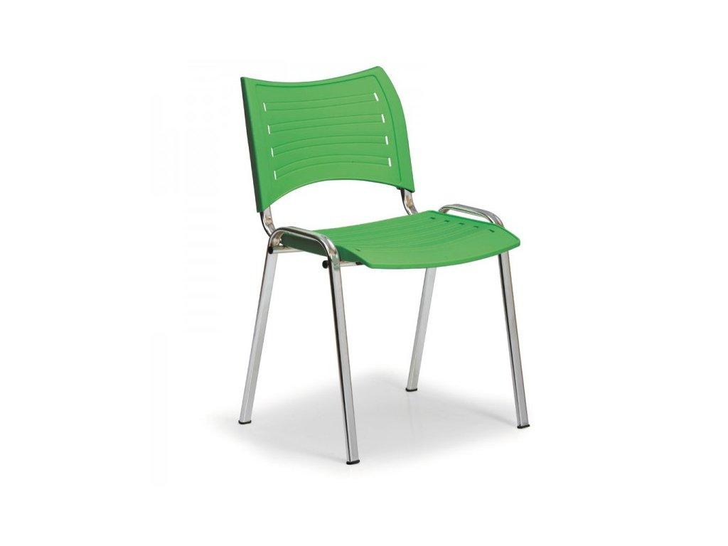 Plastová židle SMART - chromované nohy