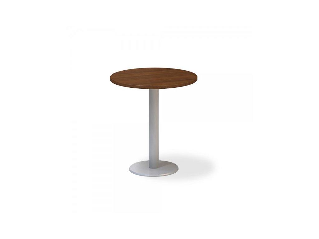 Jednací stůl ProOffice, průměr 70 cm / Ořech