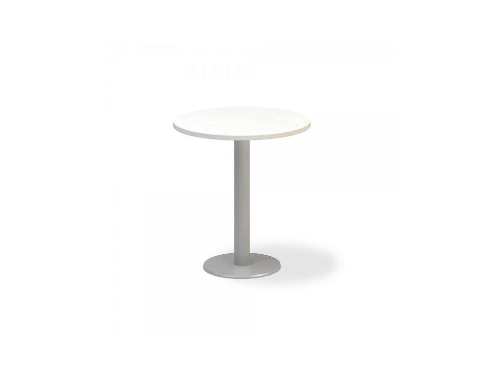 Jednací stůl ProOffice, průměr 70 cm / Bílá