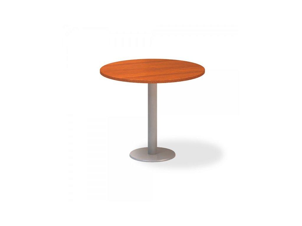 Jednací stůl ProOffice, průměr 90 cm / Třešeň