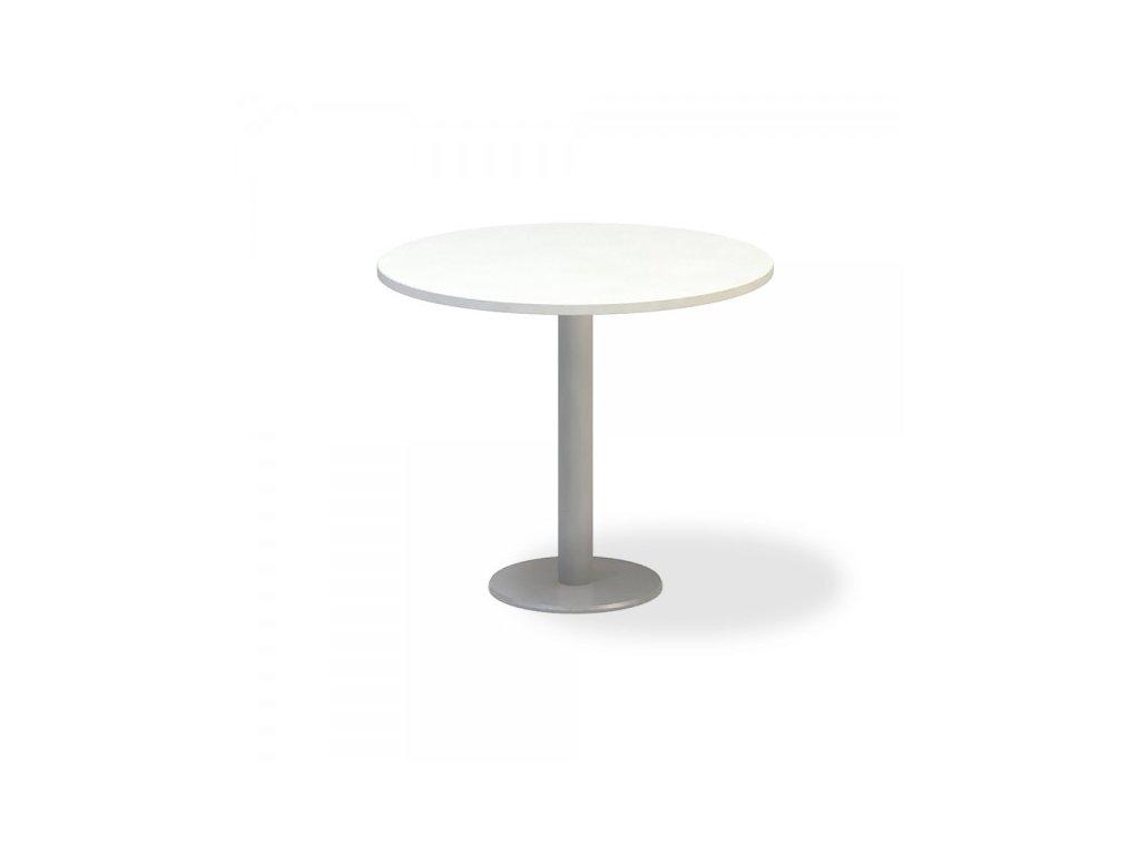 Jednací stůl ProOffice, průměr 90 cm / Bílá
