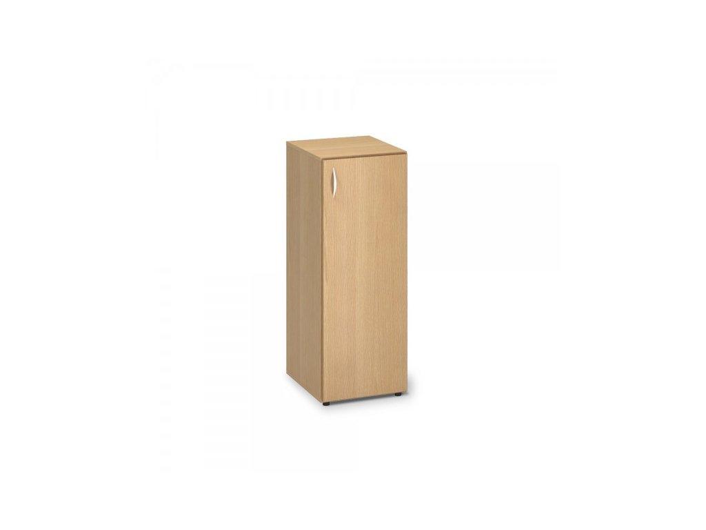 Střední úzká skříň ProOffice 40 x 47 x 106,3 cm, pravá / Buk