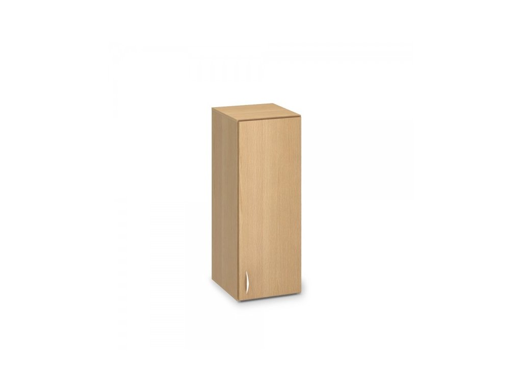 Nástavbová úzká skříň ProOffice 40 x 47 x 104,5 cm, pravá / Buk