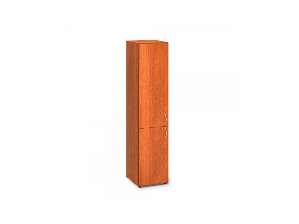 Vysoká úzká skříň ProOffice 40 x 47 x 178 cm, levá / Třešeň