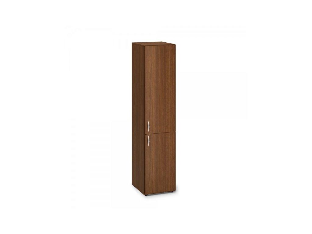 Vysoká úzká skříň ProOffice 40 x 47 x 178 cm, pravá / Ořech