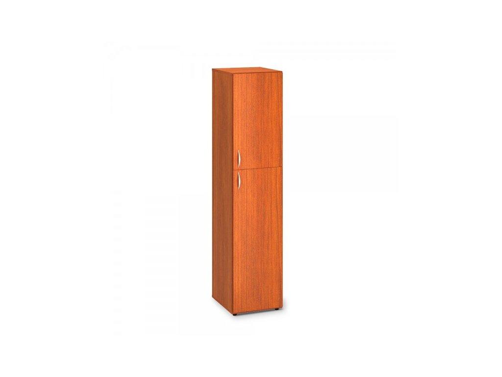 Vysoká úzká skříň ProOffice 40 x 47 x 178 cm, pravá / Třešeň