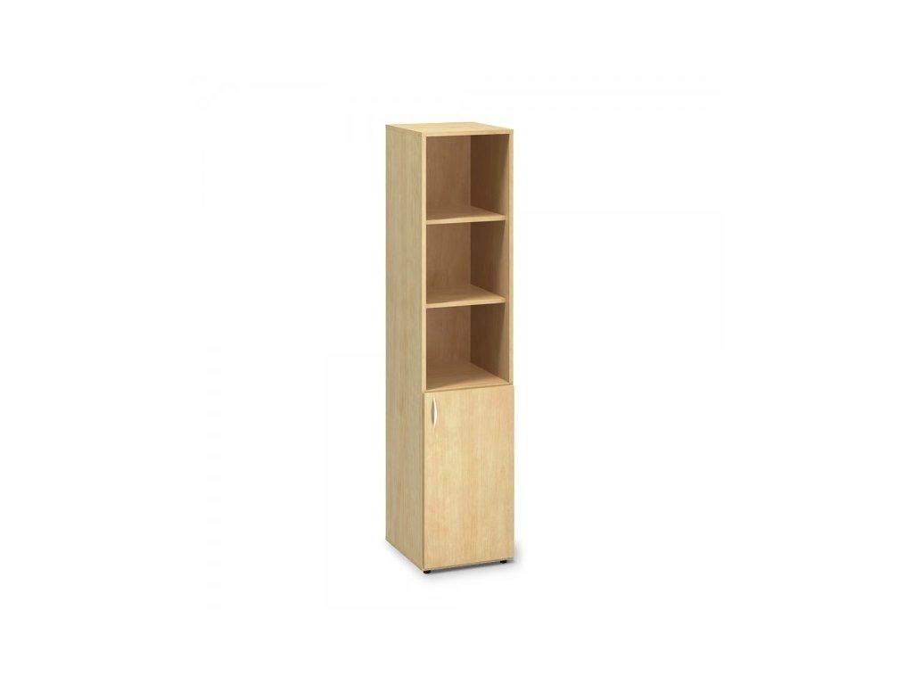 Vysoká úzká skříň ProOffice 40 x 47 x 178 cm, pravá / Hruška