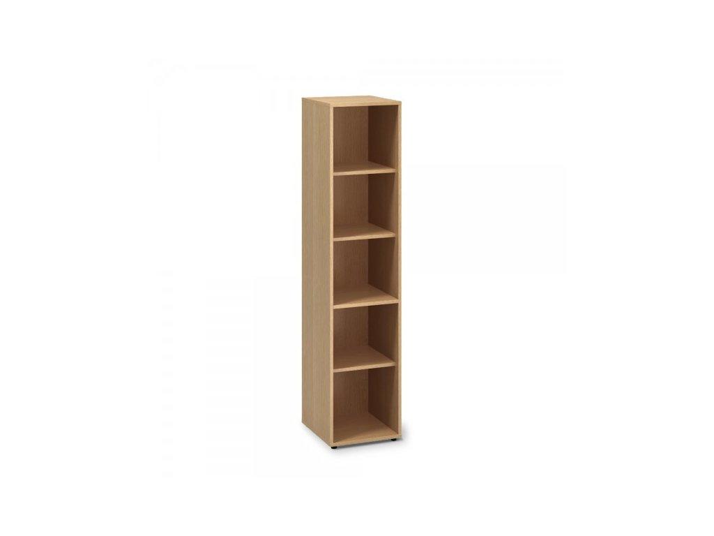 Vysoká úzká skříň ProOffice 40 x 45 x 178 cm / Buk