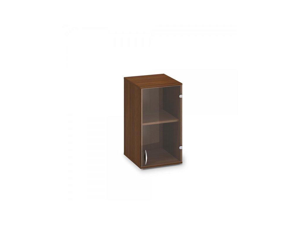 Nástavbová úzká skříň ProOffice 40 x 45,8 x 71,7 cm, pravá / Ořech
