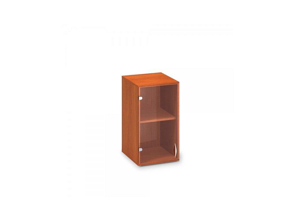Nástavbová úzká skříň ProOffice 40 x 45,8 x 71,7 cm, levá / Třešeň