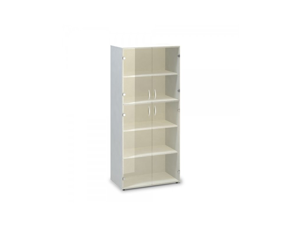 Vysoká skříň ProOffice 80 x 45,8 x 178 cm / Bílá