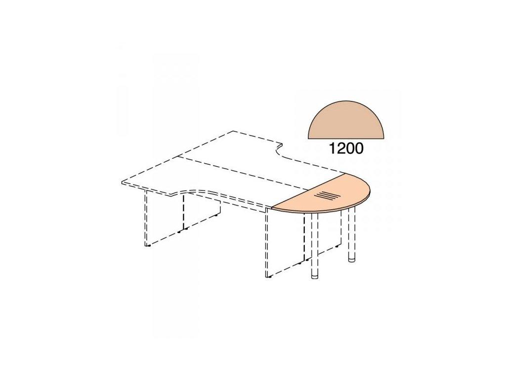 Zakončovací prvek Impress 120 x 60 cm / Javor
