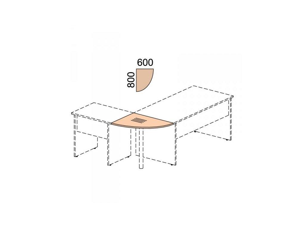 Propojovací prvek Impress 80 x 60 cm / Hruška