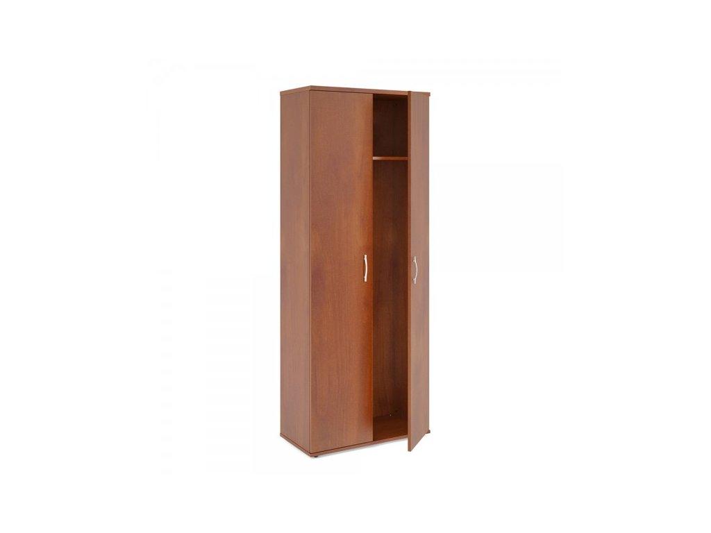 Vysoká šatní skříň Impress 74 x 37 x 190 cm / Tmavý ořech