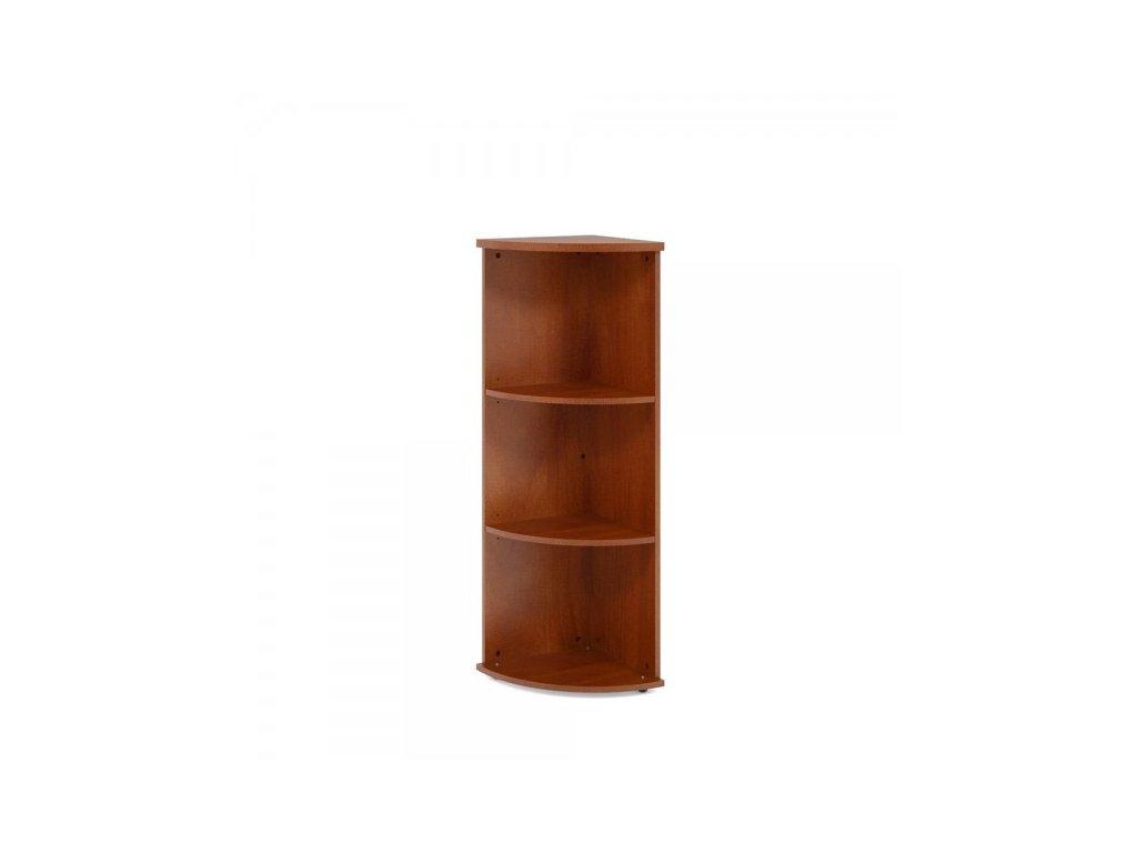Střední rohová skříň Impress 37 x 37 x 119,6 cm / Tmavý ořech