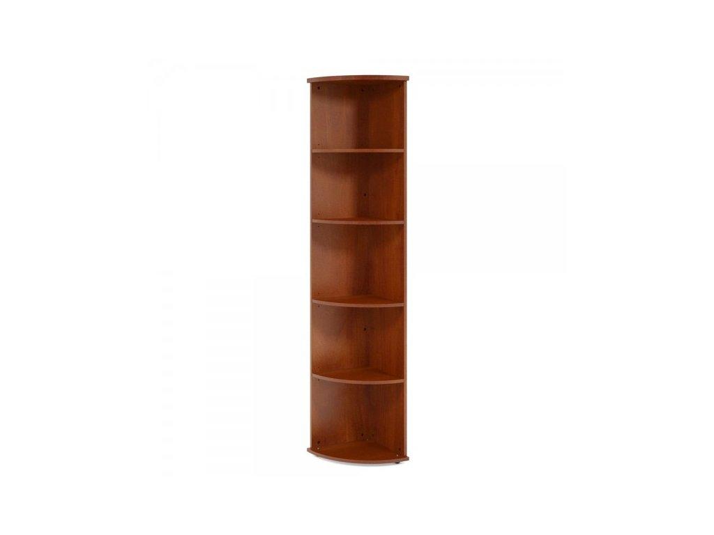 Vysoká rohová skříň Impress 37 x 37 x 190 cm / tmavý ořech