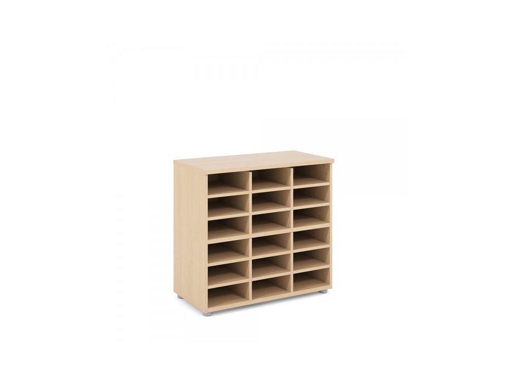 Nízká skříň Praktik 80 x 40 x 76,5 cm / Javor
