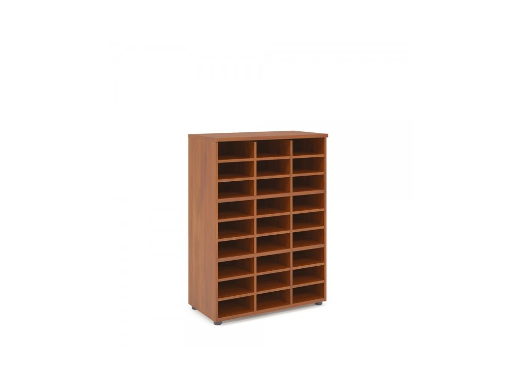 Střední skříň Praktik 80 x 40 x 111,7 cm / Tmavý ořech