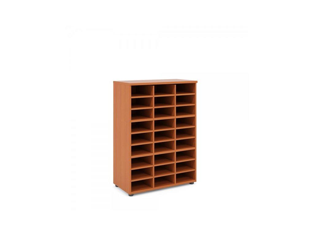Střední skříň Praktik 80 x 40 x 111,7 cm / Hruška