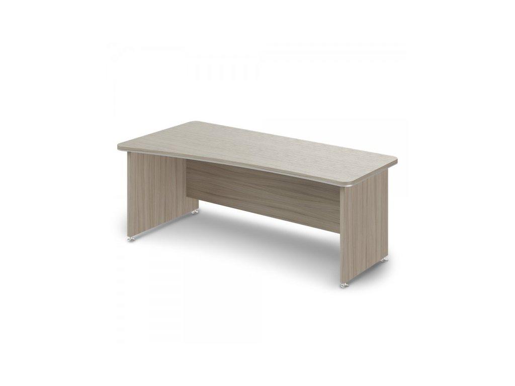 Ergonomický stůl TopOffice 200 x 100 cm, levý / Driftwood