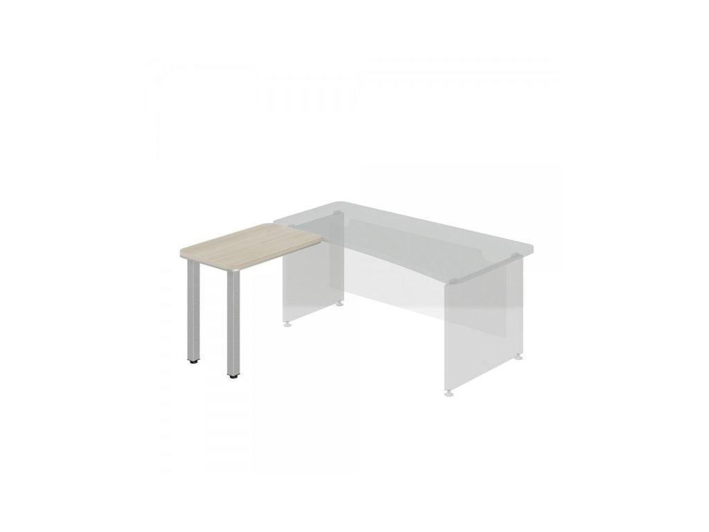 Přístavný stůl TopOffice, levý, 90 x 55 cm / Světlý akát